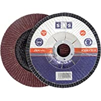 10pieza SBS–Disco de láminas (115x 22,23mm, grano 80