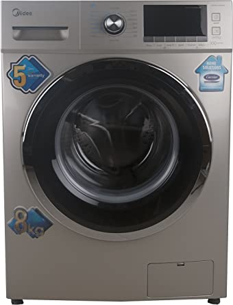 Midea 8 kg Fully-Automatic Front Loading Washing Machine (MWMFL080CDR, Golden)
