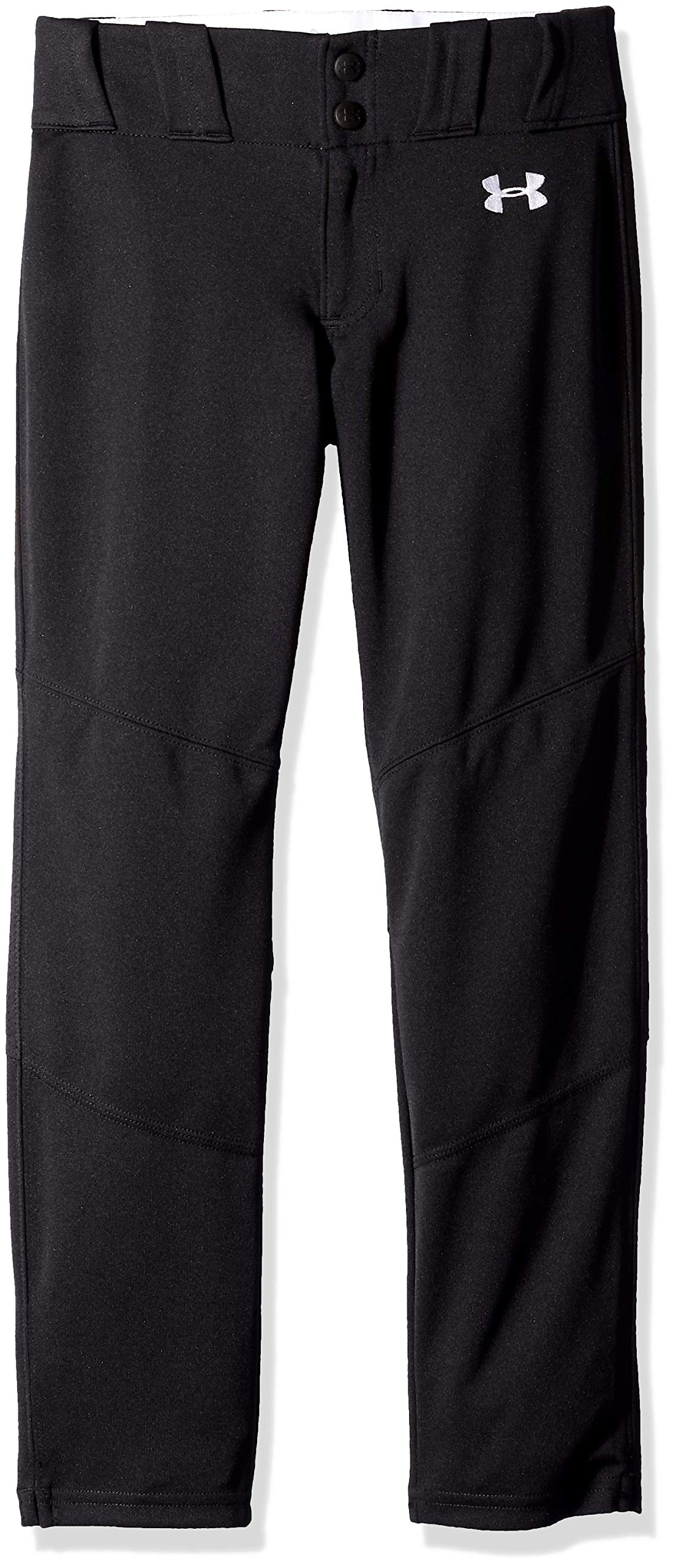 Under Armour Boys IL Ace Relaxed Pants, Black (001)/White, Youth X-Small by Under Armour