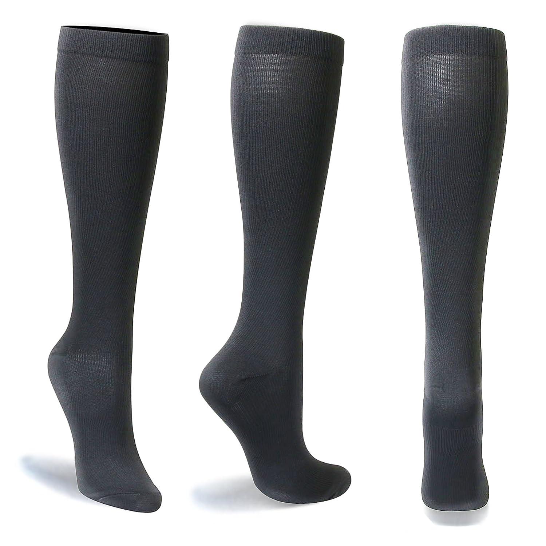 Calcetines de compresión para Mujeres y Hombres, graduados, 4 pares, 15 - 20 mmHg - mejor para médicos, Running, enfermería, viajes, deporte, edemas, ...