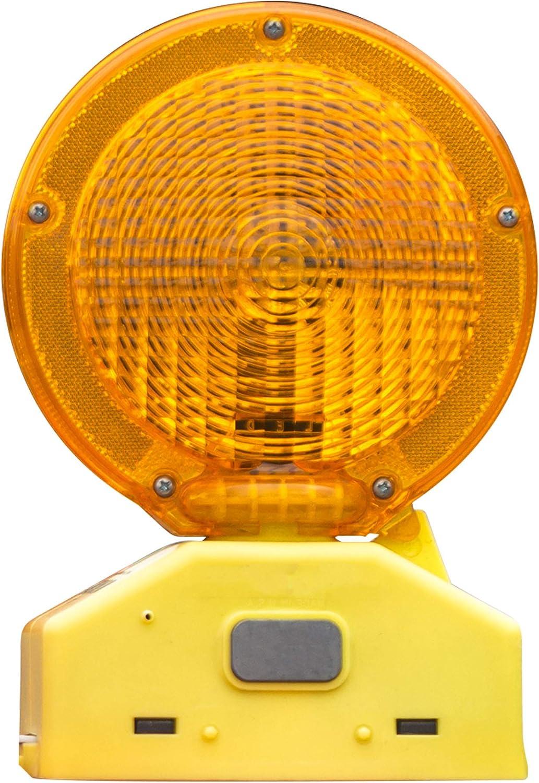 UV Coated 4 piece 2-sided Visibility Photocell RK BLIGHT6V-1 Premium 03-10-3WAY6V Polycarbonate Barricade Light