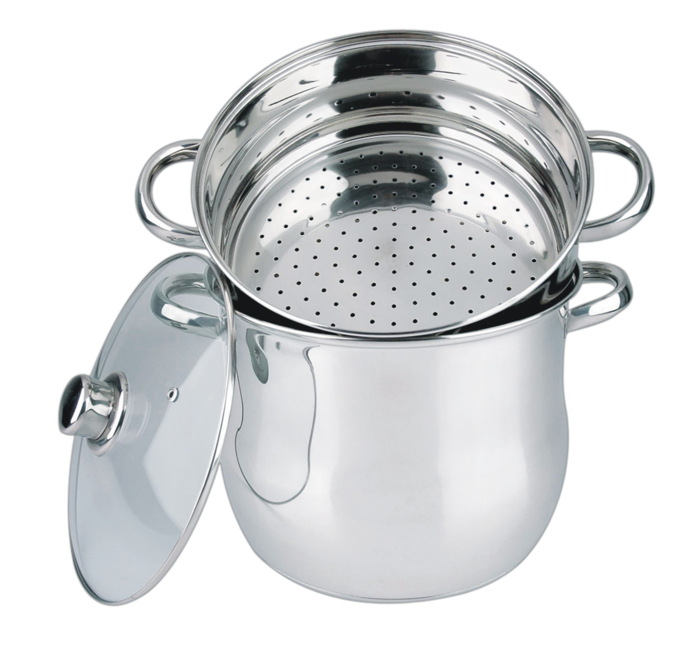 Haussmann Heritage® - 3 Stainless Steel Couscoussiers (Couscous Steamers) – Suitable For All Heat Sources Including…