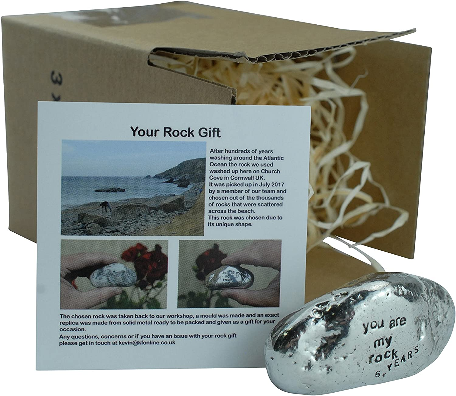 Amazon Com Pirantin 6th Anniversary You Are My Rock Gift Idea Solid Metal Heavy Polished Rock Gift For 6 Years Anniversary Garden Outdoor