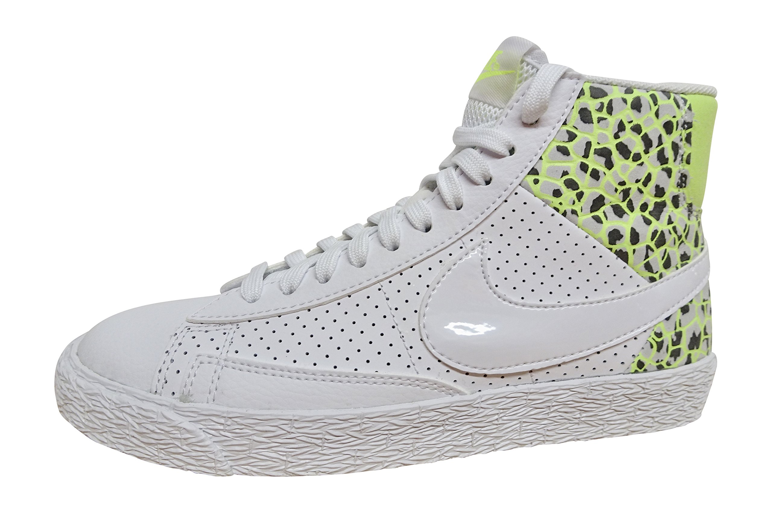 NIKE Womens Blazer mid PRM hi top Trainers 403729 Sneakers Shoes (US 5.5, White Ghost Green Pure Platinum 105)
