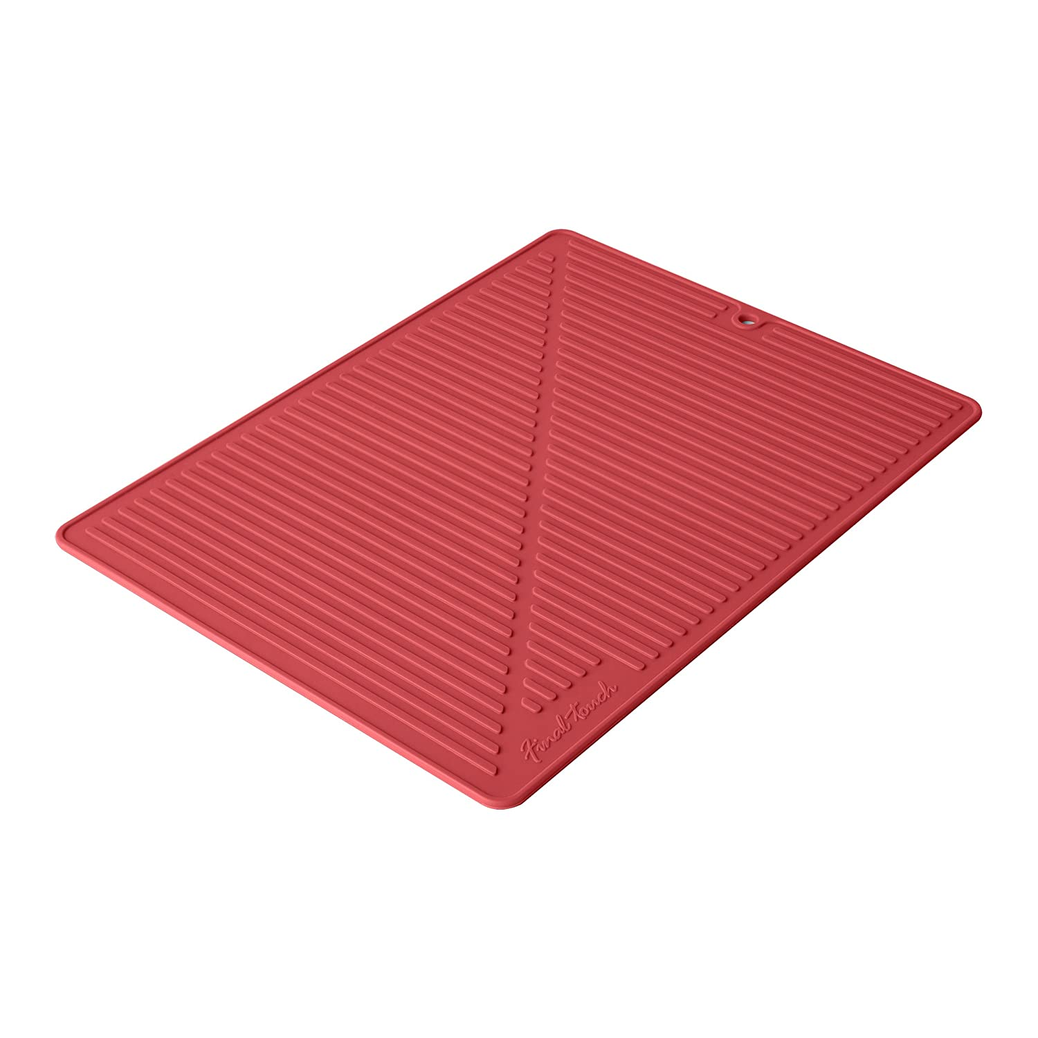 Final Touch FTA1880-7 Silicone Glass Drying Mat, Black Product Specialties