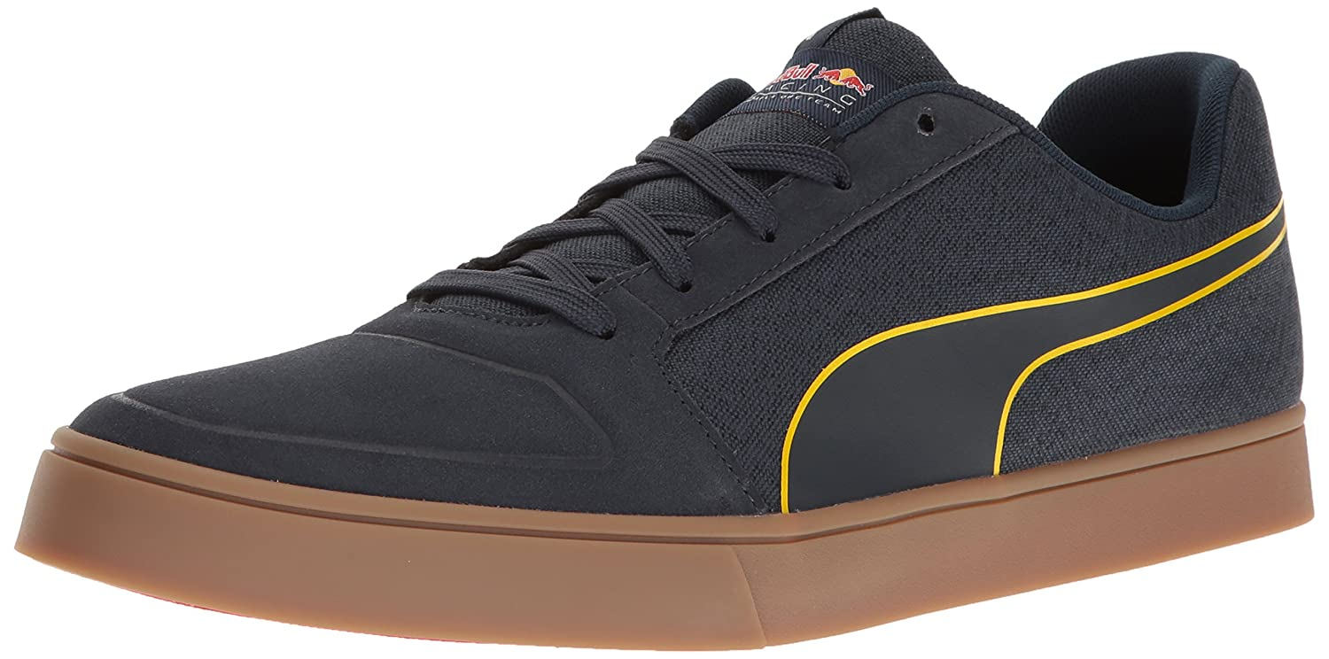 PUMA Men's RBR Wings Vulc Suede Walking Shoe Total Eclipse/Chinese Red/Spectra Yellow