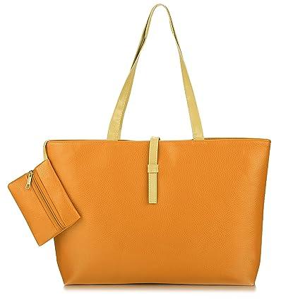 b37ff315bd35 Amazon.com  alisena Women Faux Leather Fashion Messenger Handbag Shoulder  Bag Tote Purse  alisena