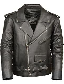 be344a47b Amazon.com: Hot Leathers Men's Heavyweight Jacket with Double Piping ...
