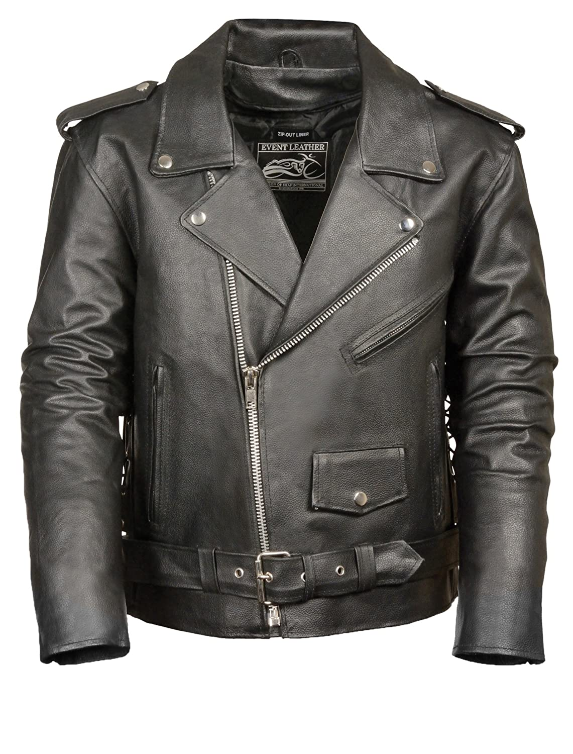Event Biker Leather Men's Motorcycle Jacket