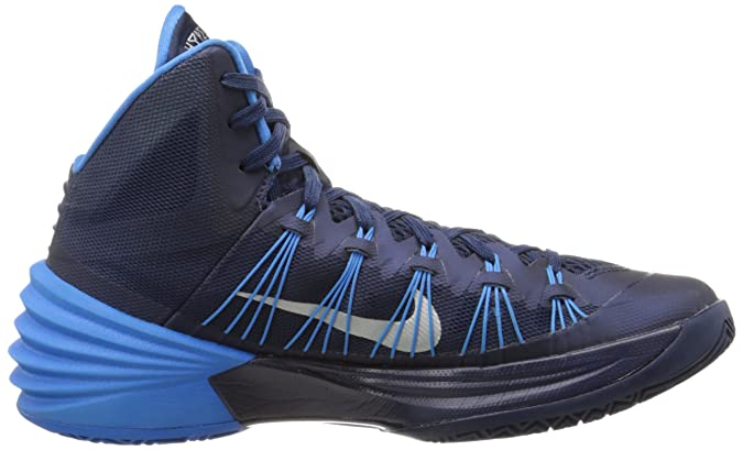 factory authentic 0c7f4 bd1c0 Nike Mens Hyperdunk 2013 Basketball Shoes Midnight Navy Photo Blue Metallic  Silver 584433-400 Sz 12  Amazon.co.uk  Shoes   Bags