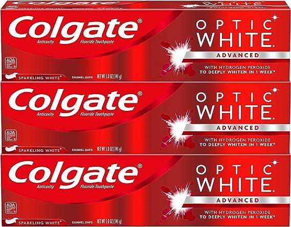 Amazon Com Colgate Optic White Whitening Toothpaste Sparkling