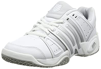 classic fit 6ba84 bd972 K-Swiss Performance Women s Accomplish LTR Omni Tennis Shoes  White Silver Glcrgray 107