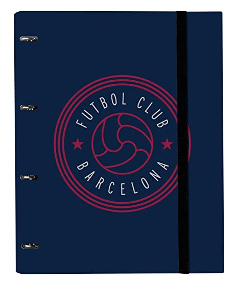 Grupo Erik Editores Carpeta 4 Anillas Troquelada Premium Fc Barcelona