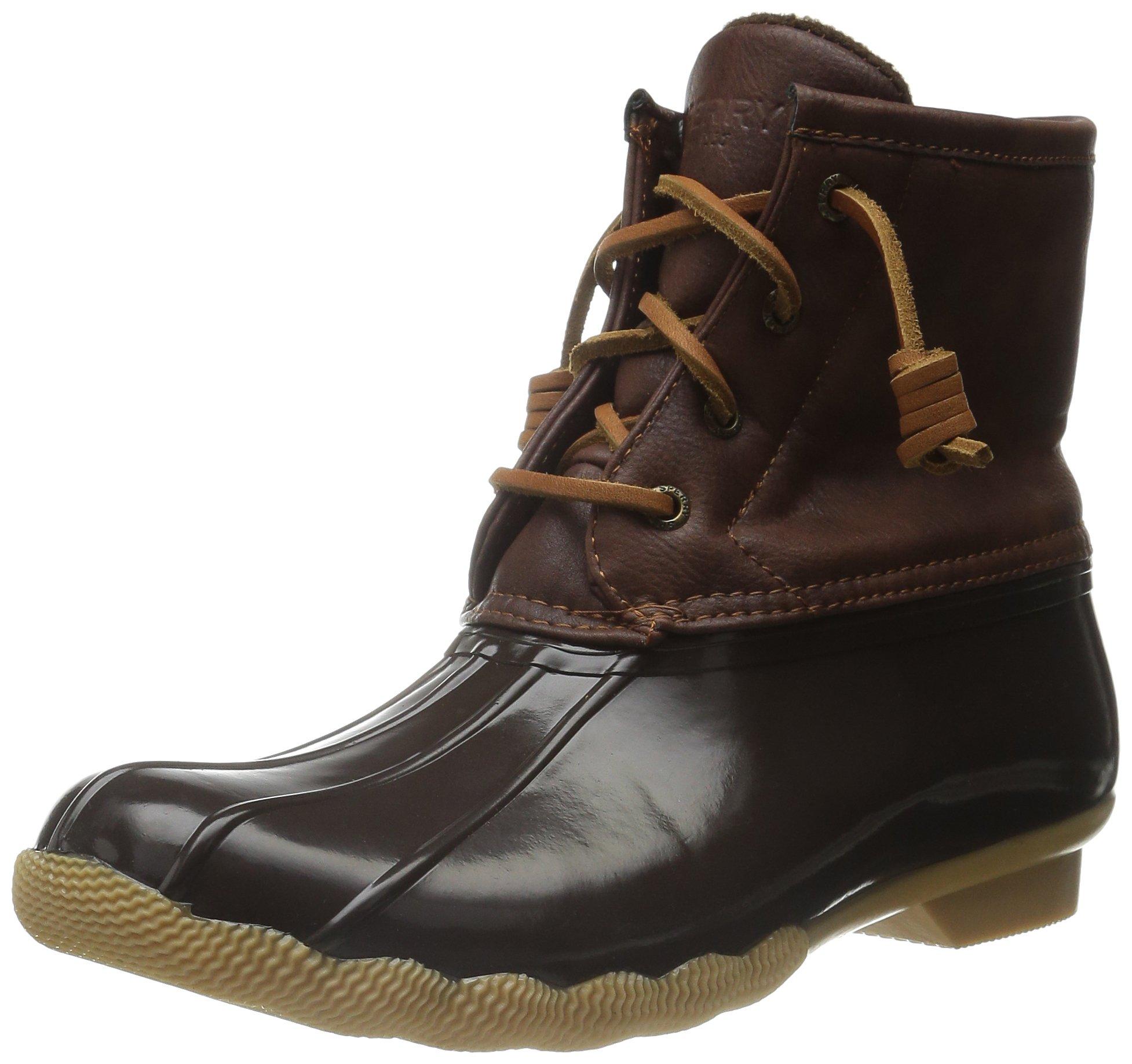 Sperry Saltwater Rain Boot (Little Kid/Big Kid), Brown/Brown, 5 M US Big Kid