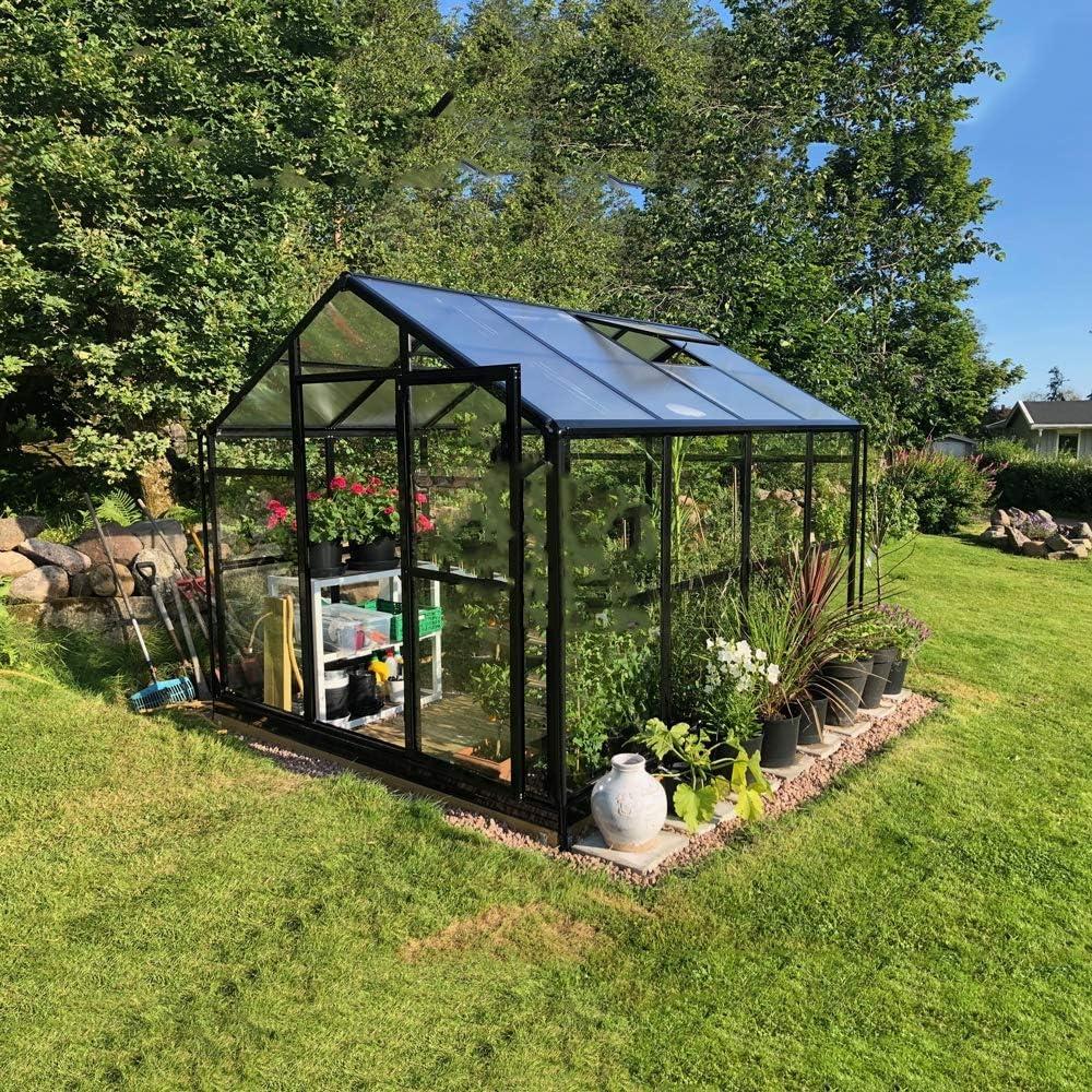 QWERTOUY Gazebo/jardín de Aluminio a Prueba de Agua al Aire Libre Invernadero de Color Verde de jardín Invernadero: Amazon.es: Hogar
