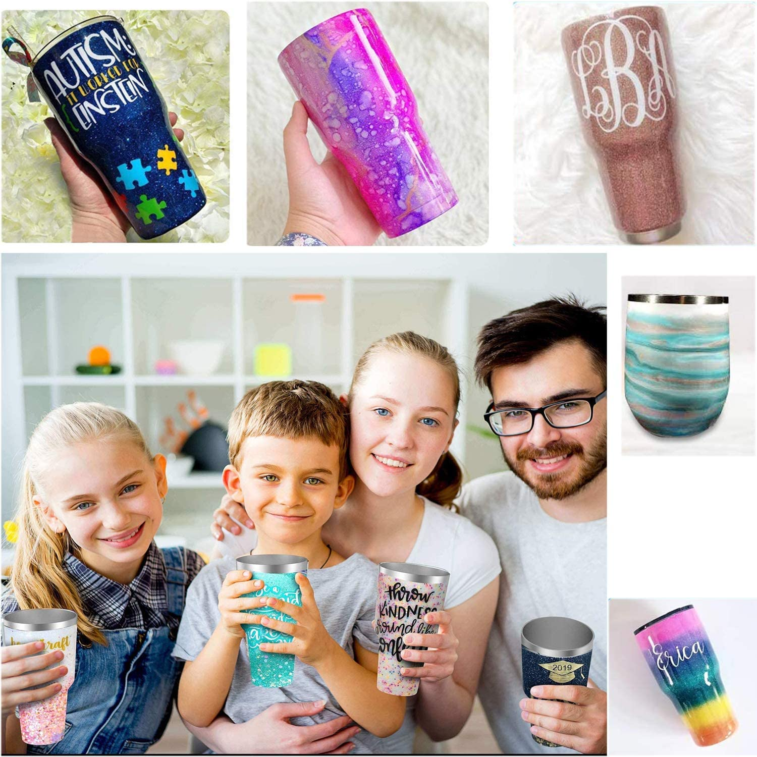 Tumbler Turner Cup Turner Cuptisserie Cup Spinner Tumbler Rotisserie Kits with Drying Rack/& Foam Replacement for Mugs Cups Tumbler Epoxy Resin Custom Glitter Tumblers /& Decals
