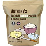 Anthony's Premium Butter Powder, 1 lb, Gluten Free, Non GMO, Made in USA, Keto Friendly, Hormone Free