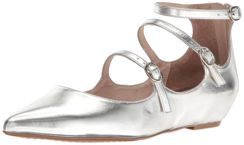 STEVEN by Steve Madden Women's Gantry Ballet Flat B01LYR3TGV 8.5 B(M) US|Silver