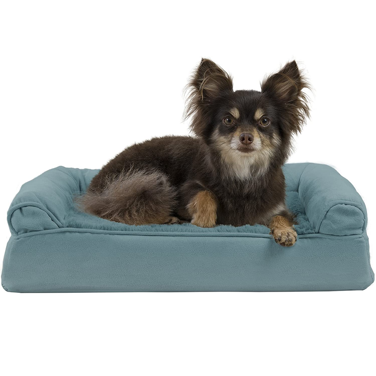 FurHaven Pet Dog Bed   Orthopedic Ultra Plush Sofa-Style Couch Pet Bed for Dogs & Cats, Deep Pool, Small