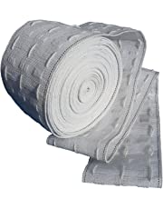 Curtain Heading Tape 3 inch 75mm Wide White Pencil Pleat Approx. 10m long for Curtains by Okra