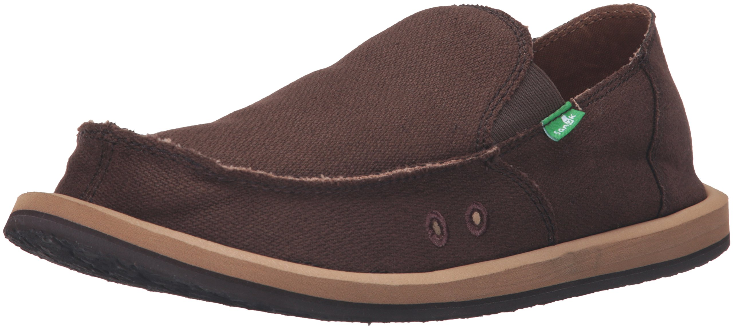 Sanuk Men's Hemp Slip-On, Brown, 6 M US by Sanuk
