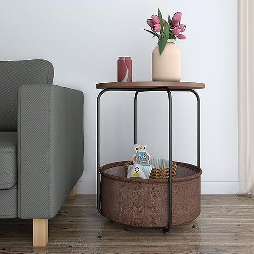 Lifewit Beistelltisch Holz Nachttisch Rund Balkontisch Kaffeetisch