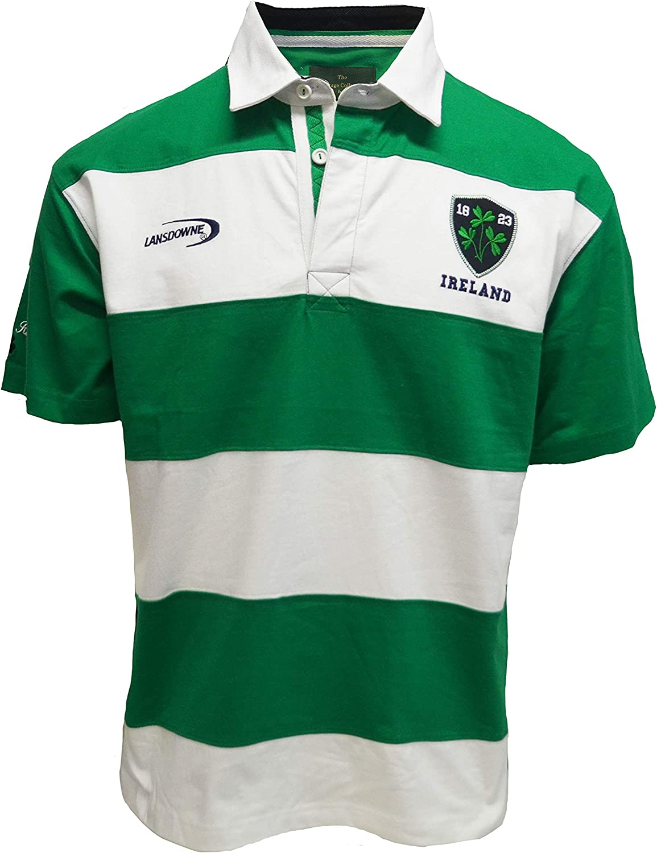 Traditional Craft Ltd. - Camiseta de Rugby de Manga Corta con Rayas de Irlanda Esmeralda/Blanca - Verde - Medium: Amazon.es: Ropa y accesorios