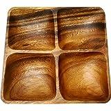 エメリー商会 木製食器 アカシア スクエアプレート(4仕切り) SW-E004