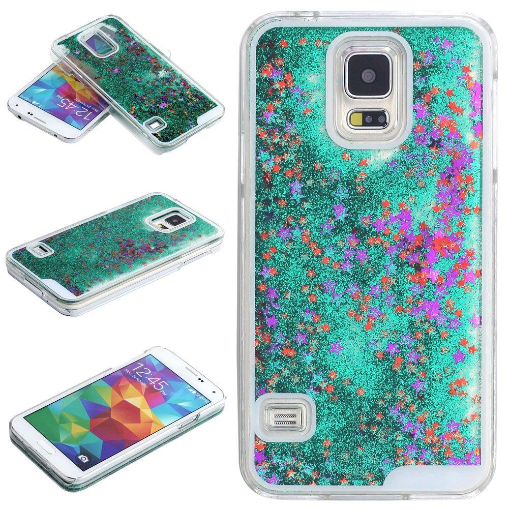 samsung galaxy s5 3d cases. amazon.com: samsung galaxy s5 case-yerwal transparent plastic 3d glitter quicksand stars liquid case for s5(green): cell phones \u0026 accessories 3d cases