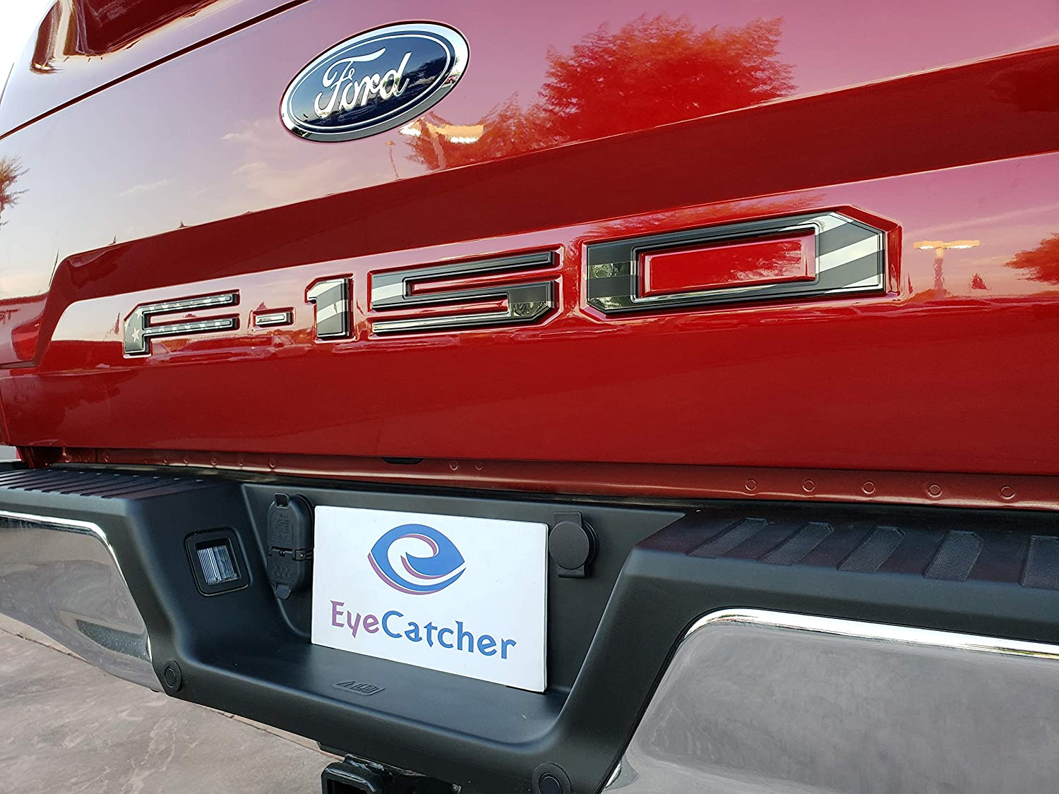 Chrome EyeCatcher Tailgate Insert Letters for 2018-2019 Ford F150