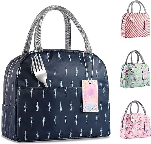 Amazon.com: IOQSOF - Bolsa de almuerzo para mujer, elegante ...