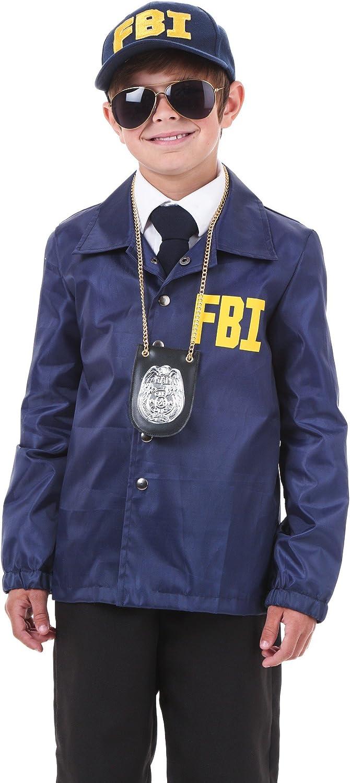 Niño FBI disfraz - Azul -: Amazon.es: Ropa y accesorios