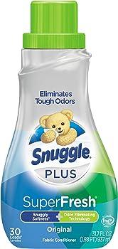 Snuggle Plus Super Fresh Liquid Fabric Softener 31.7 Fluid Ounces