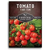 Survival Garden Seeds - Tiny Tim Tomato Seed for Planting - Packet with Instructions to Plant and Grow Your Home…