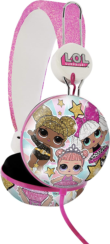 OTL Technologies - L.O.L. Surprise Glitter Glam Tween Dome - Auriculares con Cable para niños, Multicolor