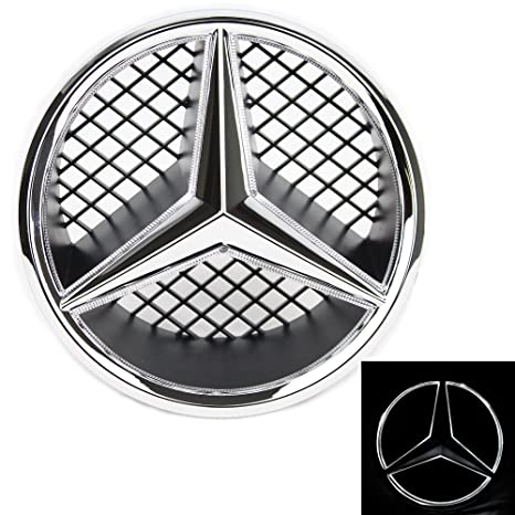 Insignia Mercedes Benz Jetstyle, emblema iluminado LED para parte frontal de la parrilla, logo