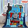"Sviuse Baby Blanket Kids Cartoon Plush Soft Warm Print Blanket,59"" x 79"" Blanket for Bed Couch Chair Fall Winter Spring Living Room (59x79 Inch, Thomas)"