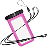 Universal Waterproof Case, YOSH Cell Phone Dry Bag Pouch for Apple iPhone 6S 6 6S Plus SE 5S Note 5 S7 S6 Edge Pixel XL LG Huawei for Smartphone up to 6 inches, Pink
