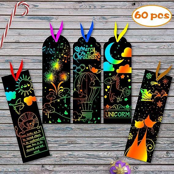 Amazon.com: YOBAYE - 60 marcadores de libros para rasguños ...