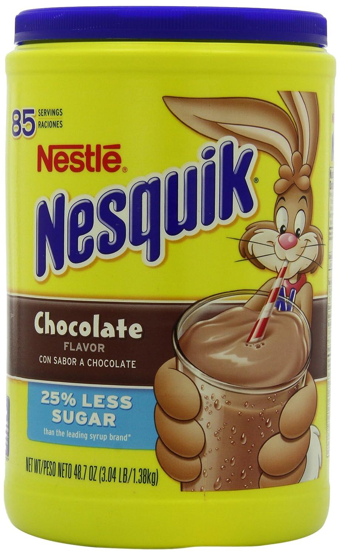 Amazon.com : Nesquik Chocolate Powder Drink Mix, 48.7-Ounce ...