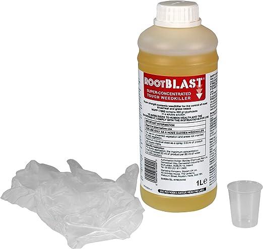 Rootblast - Herbicida superconcentrado para Matar Malas Hierbas de Fuerza Comercial para hogar y jardín, 360 g/l: Amazon.es: Jardín