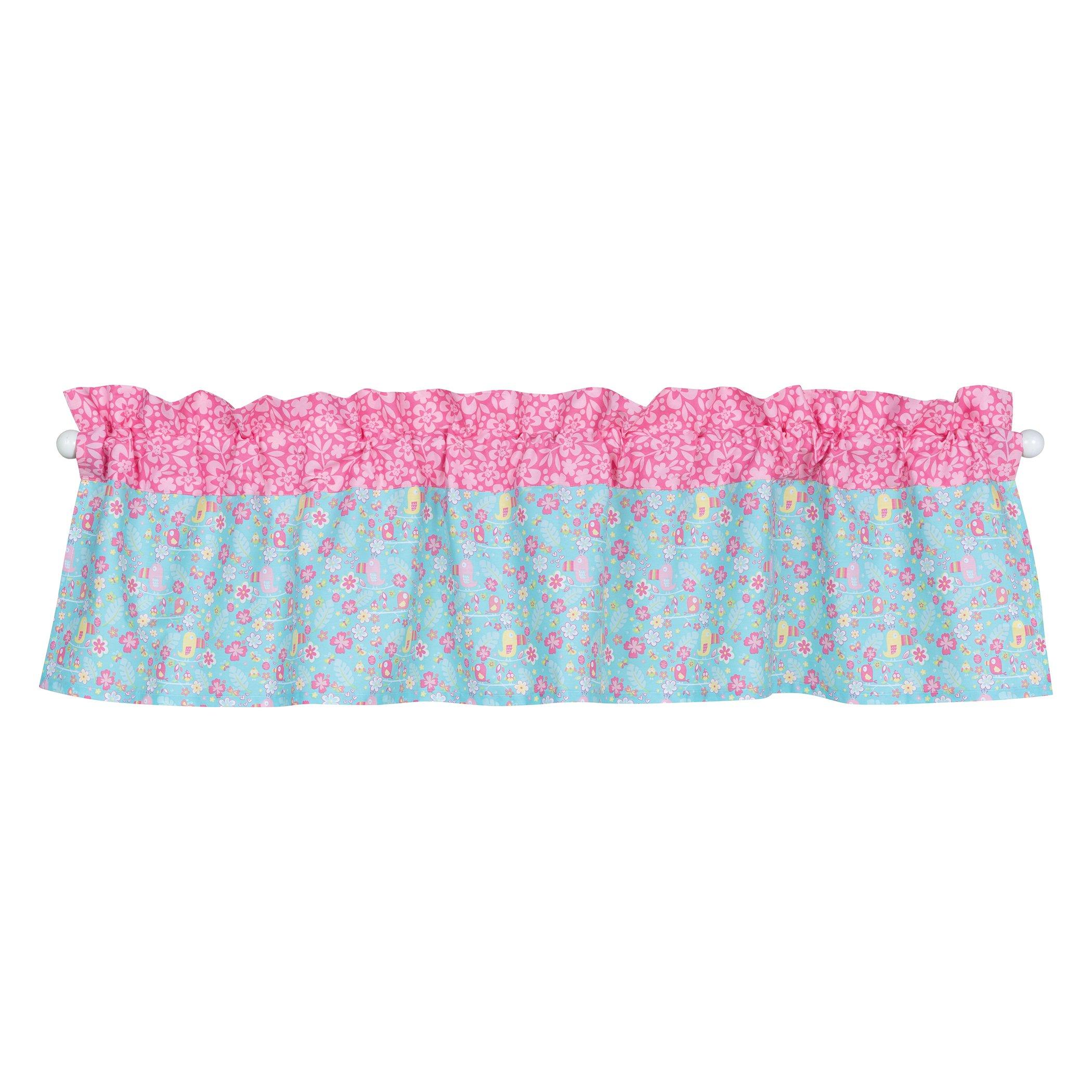 Trend Lab Tropical Tweets Window Valance, Pink