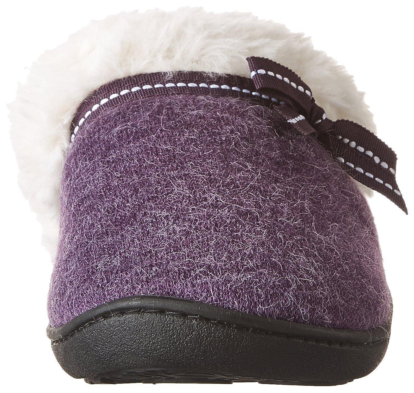 Isotoner Womens Heather Knit Hoodback Clogs