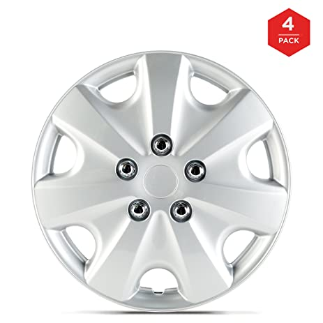 15 Inch ABS Plastic Hubcaps, mAuto Premium Double Coated Quality Car Wheel Covers for Toyota