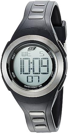Skechers Womens Tennyson Quartz Metal and Silicone Digital Watch Color: Grey, Black (Model
