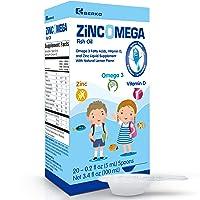 Zincomega Kids Vitamins - Fish Oil Omega 3 Spoons New Essential Fatty Acids Aid...