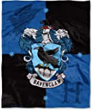Harry Potter Ravenclaw House Crest Silk Touch Throw 50 x 60- Choose From All 4 Houses