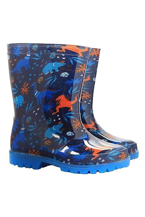 Mountain Warehouse Botas de Agua Splash Junior con Luces parpadeantes para  niños - Duraderas f261bd6dd95c9