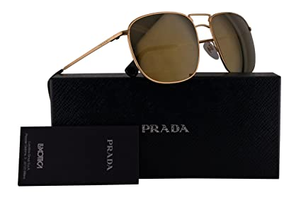 7a672e599c95 Image Unavailable. Image not available for. Color  Prada PR52TS Sunglasses  Gold ...