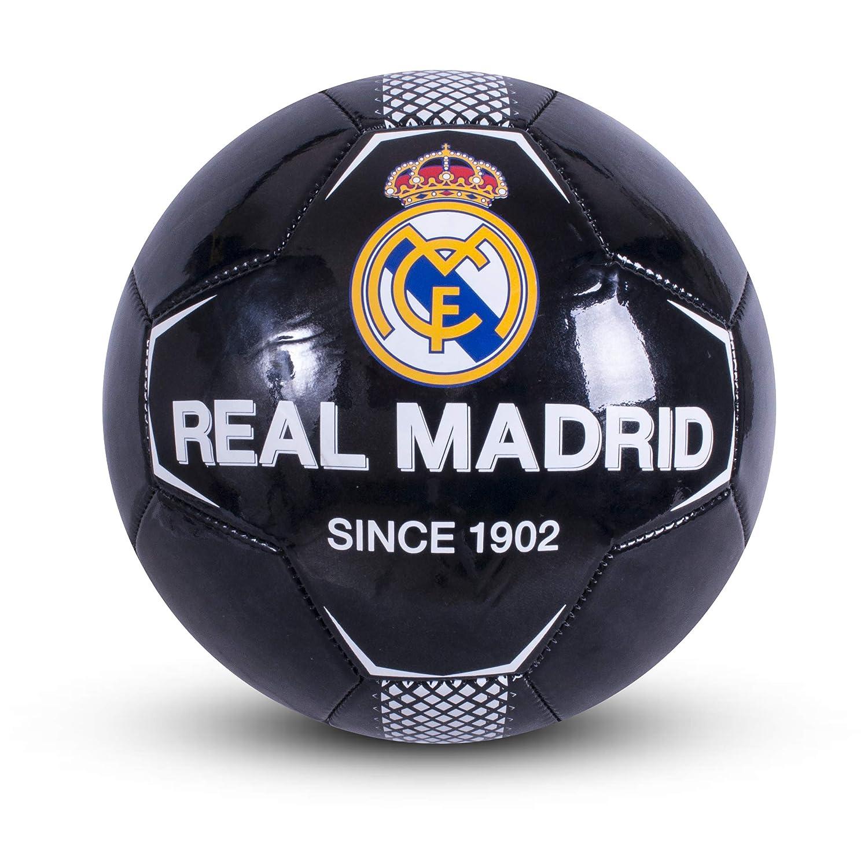 Real Madrid F.C. RM05940 Balón de fútbol, Negro, 5: Amazon.es ...